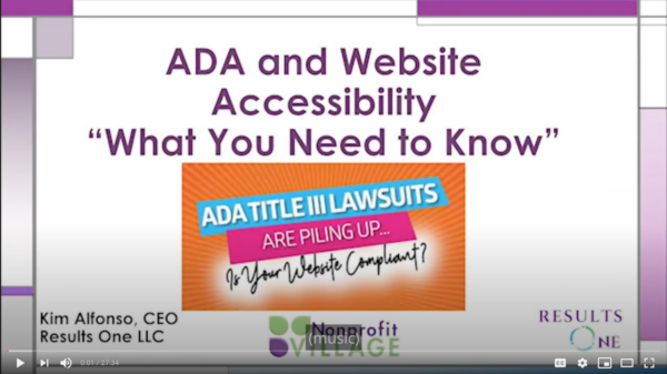 ADA and Website Accessibility